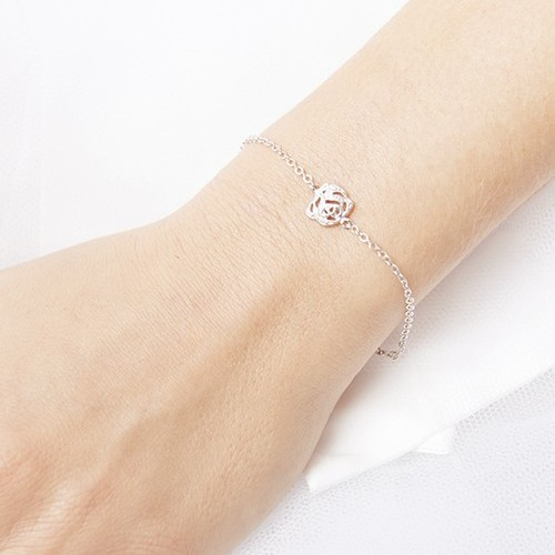 Bracelet mariée bohème argenté