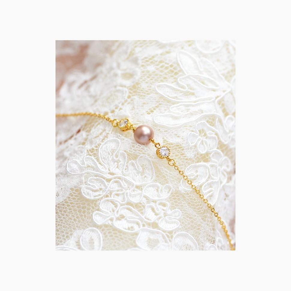 Bracelet mariage perle de Swarovski