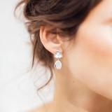 Boucles d'oreilles Mariée romantique