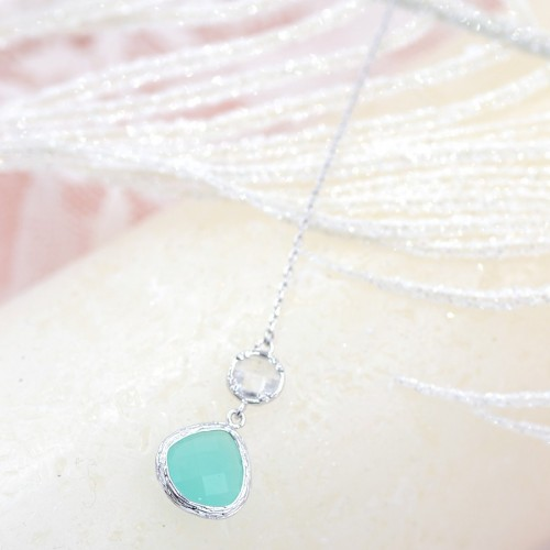 Collier de Dos mariage Turquoise