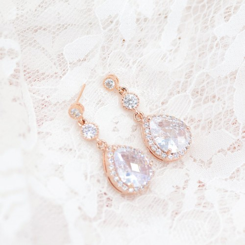Boucles d'oreilles mariage Charly