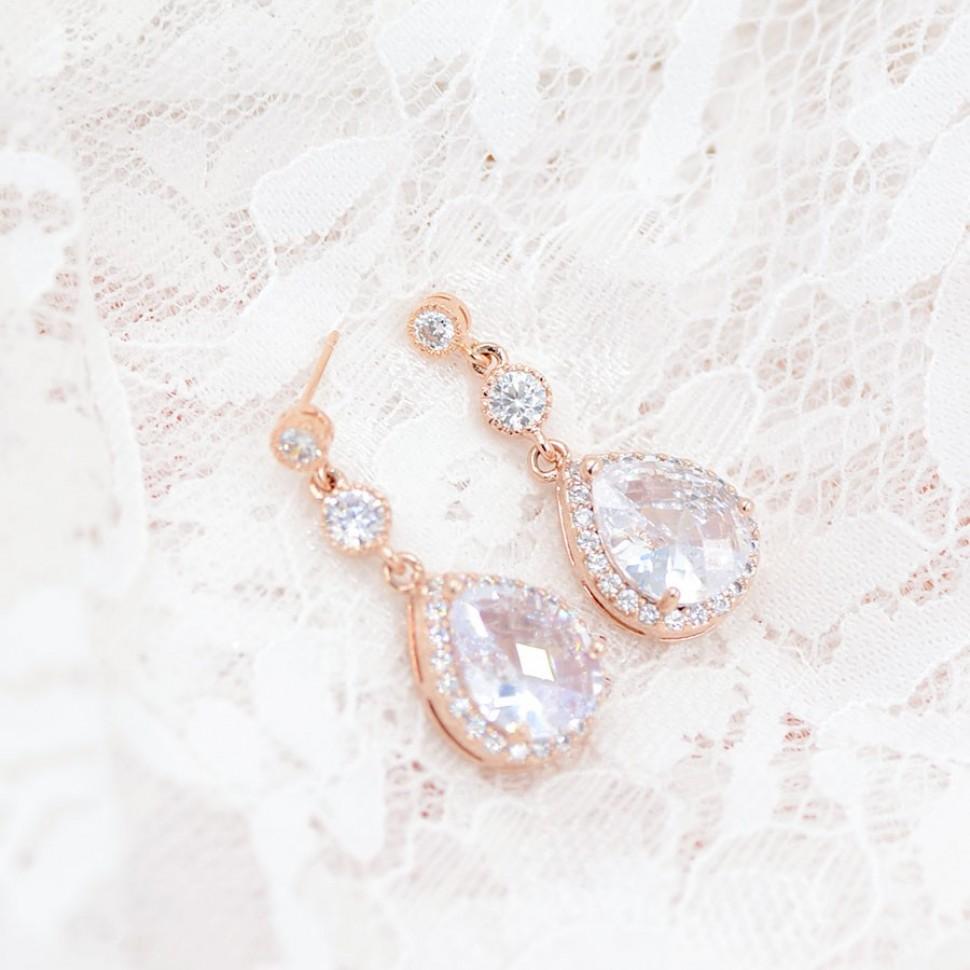 Boucles d'oreilles mariage