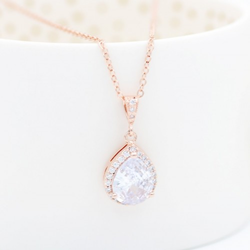 Collier mariage rose gold Soliste