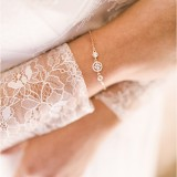 Bracelet mariée Rose Gold