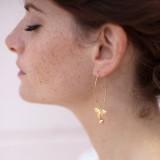 Boucles d'oreilles mariage romantique