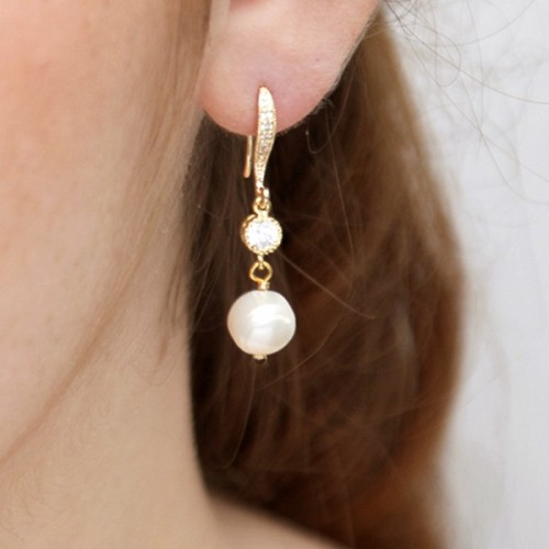 Boucles d'oreilles mariée Manohé