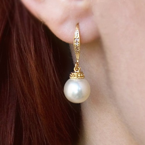 Boucles d'oreilles mariée Manoha