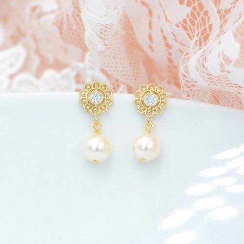 Boucles d'oreilles Mariage Camille