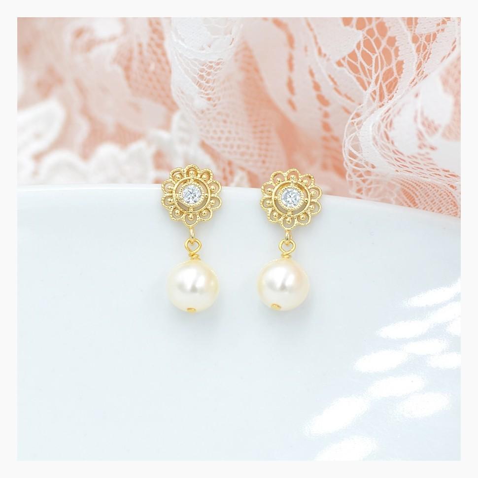 Boucle d'oreilles Mariage perles