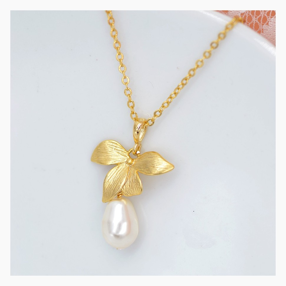 Collier mariage perle ivoire