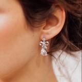 Boucles d'oreilles mariage bohème