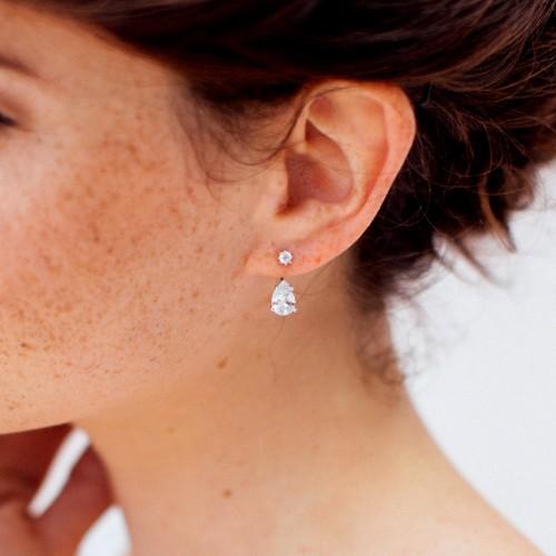 Boucles d'oreilles mariage Justine