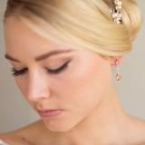 Boucles d'oreilles mariée peche