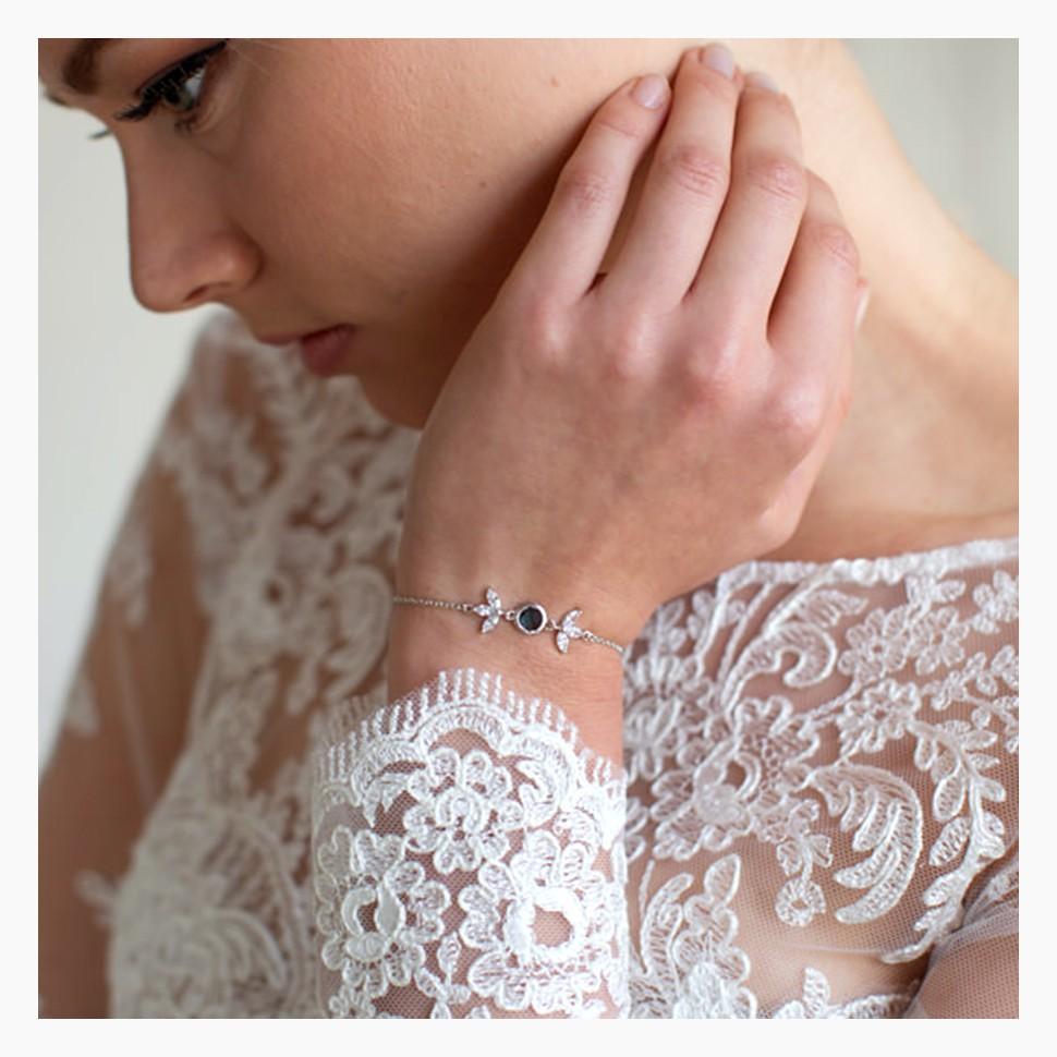 Bracelet mariage bleu nuit