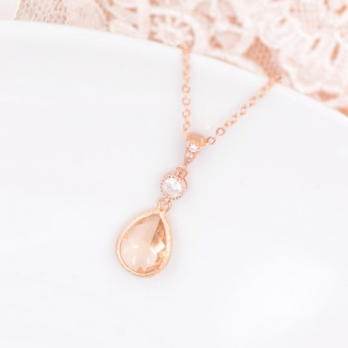 Collier de mariée Rose Gold Anais