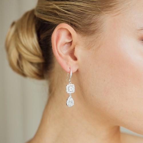Boucles d'oreilles Mariée strass