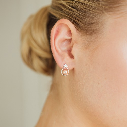 Boucles d'oreilles mariage Sensé