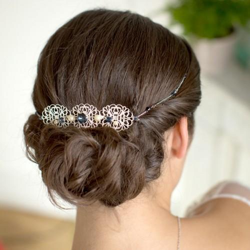 Headband bijou de tête Mariée Ysia