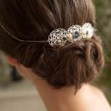 Headband mariée bleu