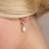 Boucles d'oreilles mariage perle