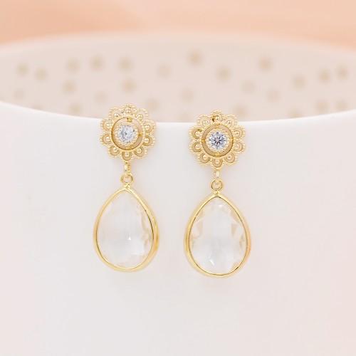 Boucle d'oreilles Mariage dorées