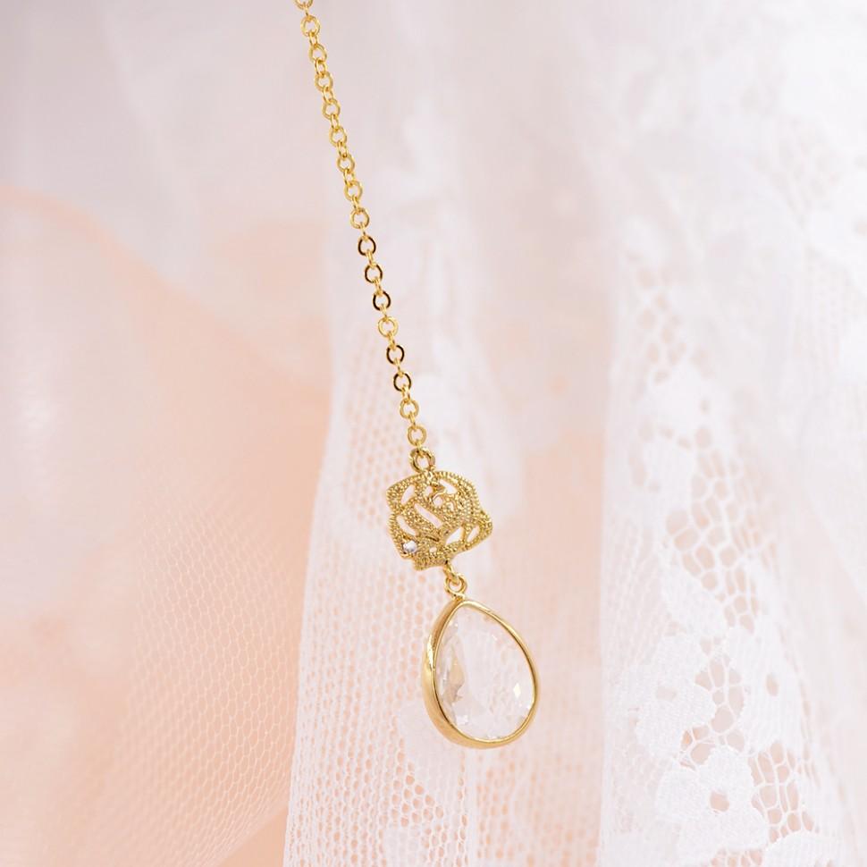 bijoux de dos mariage doré