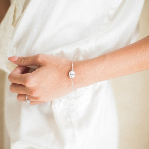 Bracelet de mariée argenté