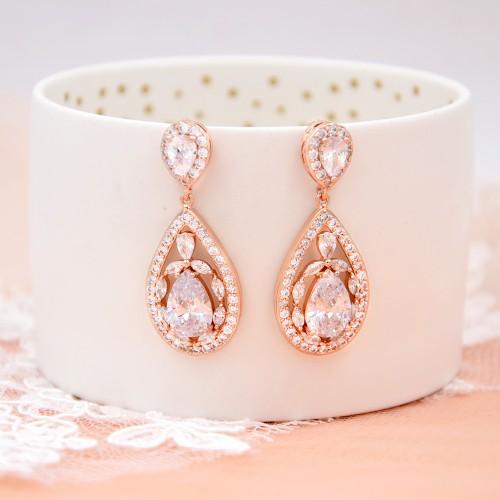Boucles d'oreilles mariage Ines