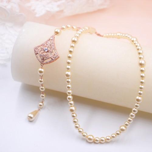 Collier avec bijou de dos Elsa