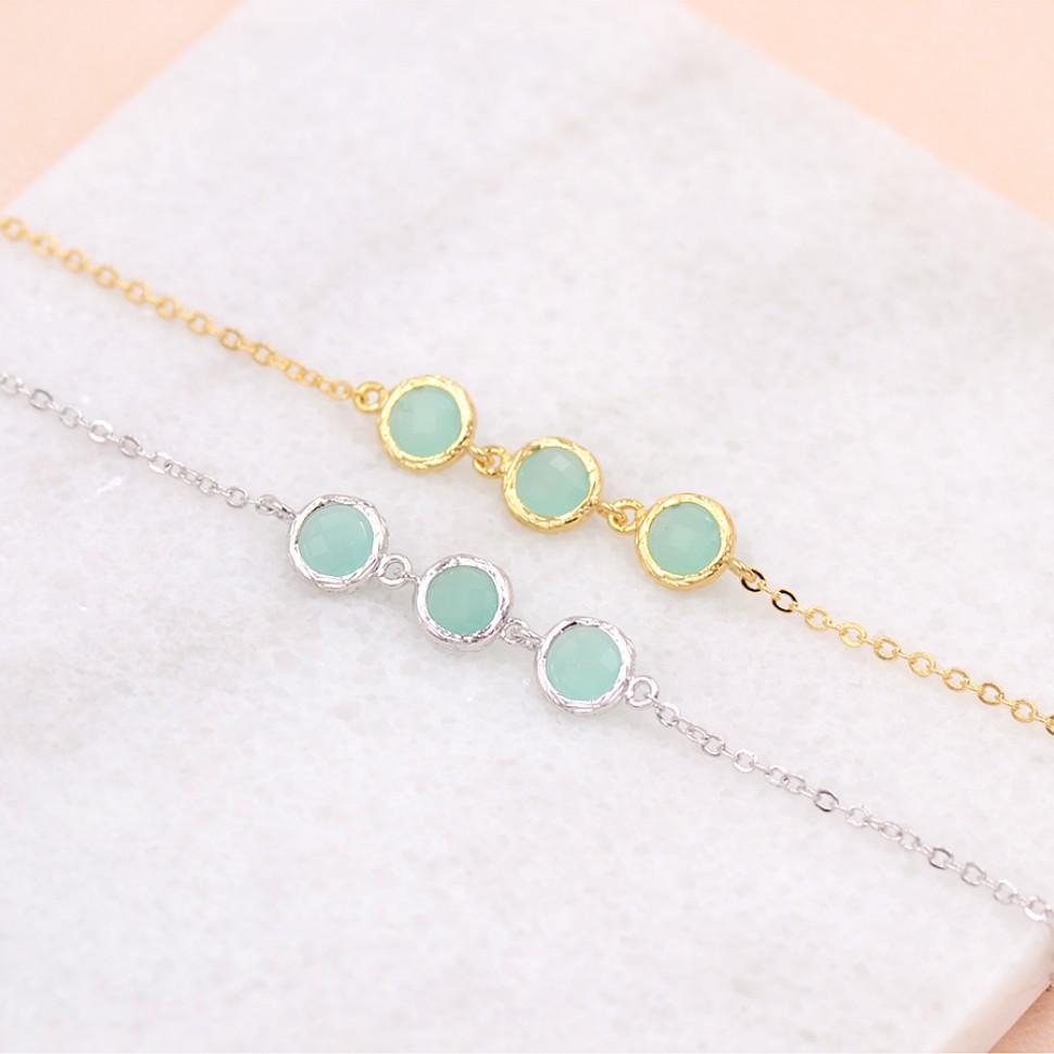 Bracelet mariage mint turquoise