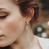 Boucles d'oreilles mariage strass