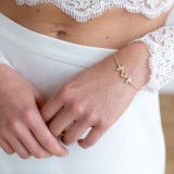 Bracelet mariage doré strass