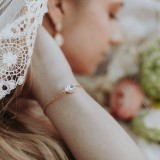 Bracelet de mariée doré