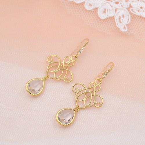 Boucles d'oreilles de mariée Nila