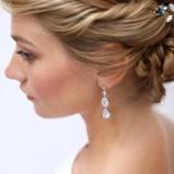 Boucles d'oreilles mariée argenté