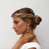 Boucles d'oreilles mariage argenté