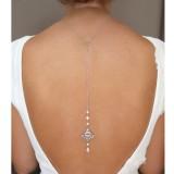 Bijoux de dos argenté strass