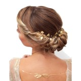 bijou de tête de Mariée doré