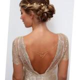 Bijou à coudre sur la robe de mariée
