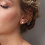 clous d'oreilles Mariée perle Aya