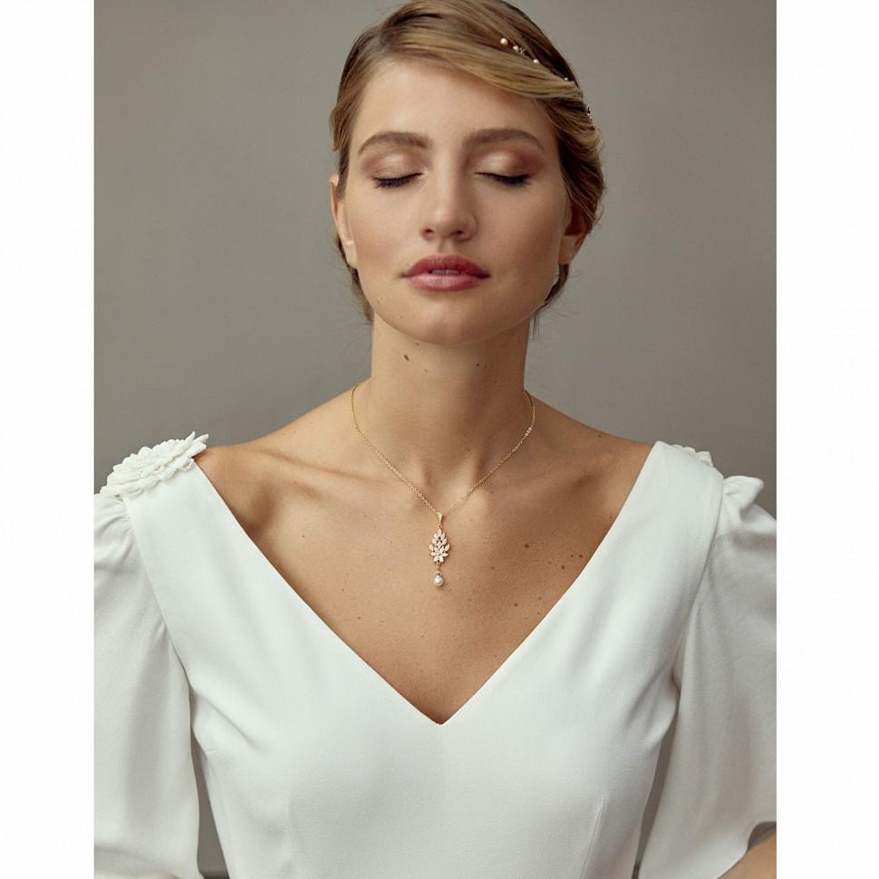 Collier de mariée argenté