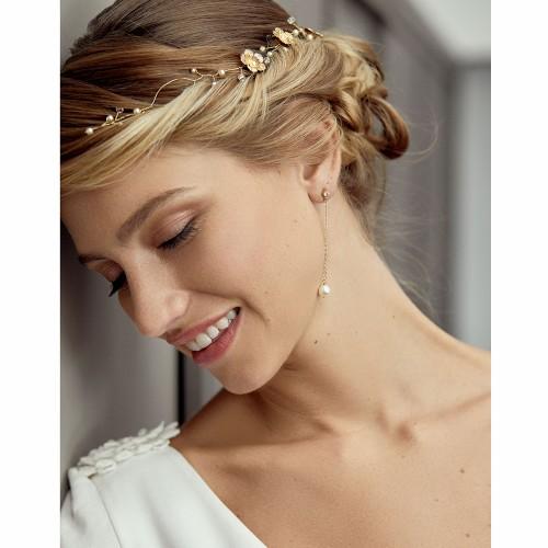 Boucles d'oreilles pendantes Perles Leo