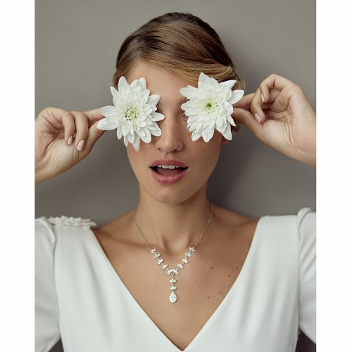 Collier mariage cristal Sophie