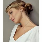 Boucles d'oreilles Mariée perle argenté