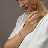 Bracelet mariée argenté romantique