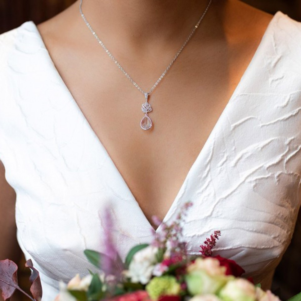 Collier de mariée goutte