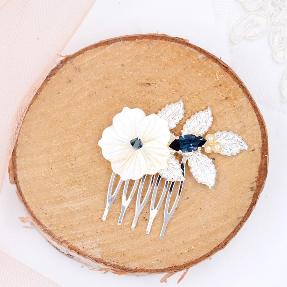Peigne Mariée fleurs