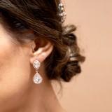 Clips d'oreilles mariage Elana ( oreilles non percées)