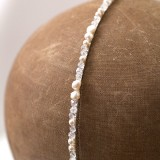 Serre tête de mariée perles