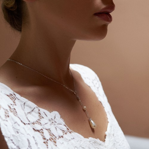 Collier de mariée perle Cérétane
